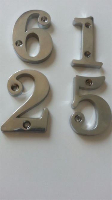Metal Kapı Numarası Krom